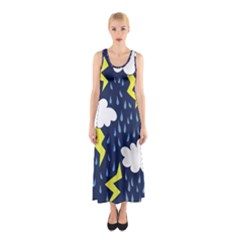 Thunderstorms Sleeveless Maxi Dress