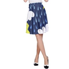 Thunderstorms A-Line Skirt