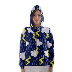 Thunderstorms Hooded Wind Breaker (women)