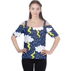 Thunderstorms Women s Cutout Shoulder Tee