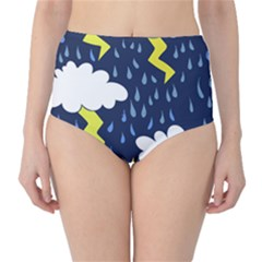 Thunderstorms High-Waist Bikini Bottoms