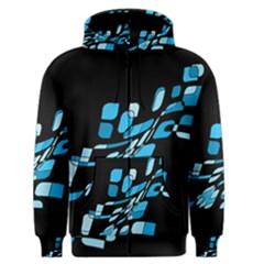 Blue abstraction Men s Zipper Hoodie
