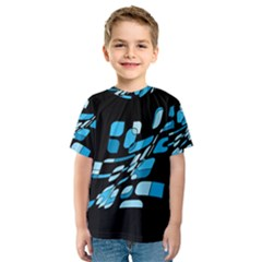 Blue abstraction Kid s Sport Mesh Tee