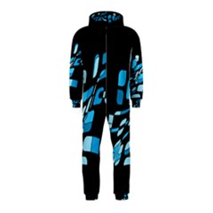 Blue abstraction Hooded Jumpsuit (Kids)