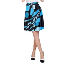Blue abstraction A-Line Skirt