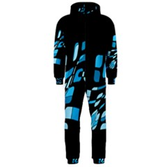 Blue abstraction Hooded Jumpsuit (Men)