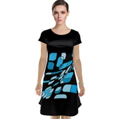 Blue abstraction Cap Sleeve Nightdress