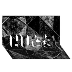 Dark Geometric Grunge Pattern Print HUGS 3D Greeting Card (8x4)