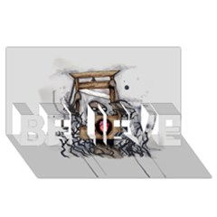 Guillotine Heart Believe 3d Greeting Card (8x4)