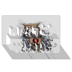 Guillotine Heart Best Wish 3D Greeting Card (8x4)