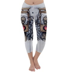 Guillotine Heart Capri Winter Leggings