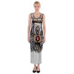 Guillotine Heart Fitted Maxi Dress