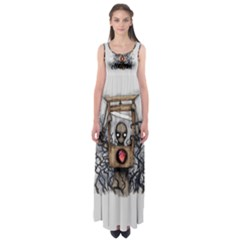 Guillotine Heart Empire Waist Maxi Dress
