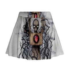 Guillotine Heart Mini Flare Skirt
