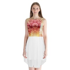tie-dye7 Sleeveless Chiffon Dress
