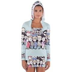 Goonies Vs Monster Squad Women s Long Sleeve Hooded T-shirt