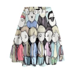 Goonies Vs Monster Squad High Waist Skirt