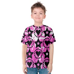 Star And Heart Pattern Kid s Cotton Tee
