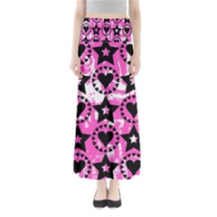 Star And Heart Pattern Maxi Skirts