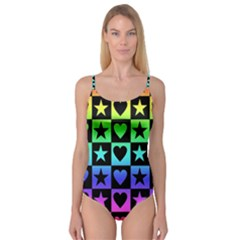 Rainbow Stars and Hearts Camisole Leotard