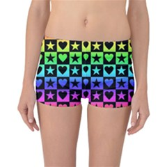 Rainbow Stars and Hearts Reversible Boyleg Bikini Bottoms