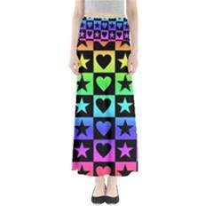 Rainbow Stars and Hearts Maxi Skirts