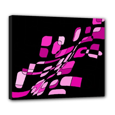 Purple abstraction Deluxe Canvas 24  x 20
