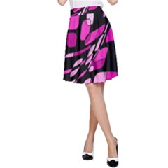 Purple abstraction A-Line Skirt