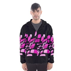 Purple abstraction Hooded Wind Breaker (Men)