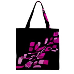 Purple abstraction Zipper Grocery Tote Bag
