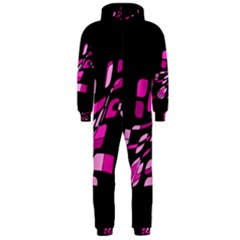 Purple abstraction Hooded Jumpsuit (Men)