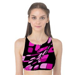 Purple abstraction Tank Bikini Top