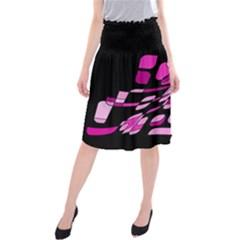 Purple abstraction Midi Beach Skirt