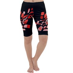 Orange abstraction Cropped Leggings