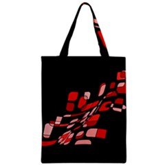 Orange abstraction Zipper Classic Tote Bag
