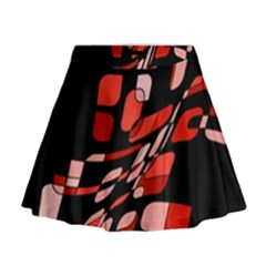 Orange abstraction Mini Flare Skirt