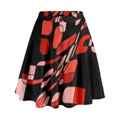 Orange Abstraction High Waist Skirt