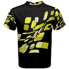 Yellow abstraction Men s Cotton Tee