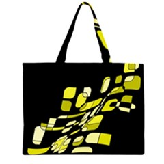 Yellow abstraction Large Tote Bag