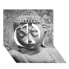 Buddha Peace Sign 3D Greeting Card (7x5)