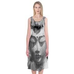 Buddha Midi Sleeveless Dress