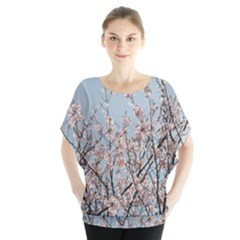 First Spring Blossom Batwing Chiffon Blouse