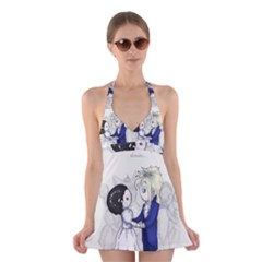 The Masquerade Halter Swimsuit Dress