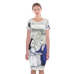 The Masquerade Classic Short Sleeve Midi Dress