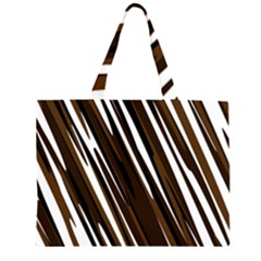 Black Brown And White Camo Streaks Large Tote Bag