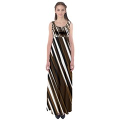 Black Brown And White Camo Streaks Empire Waist Maxi Dress