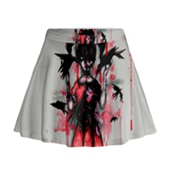This Is Fine...  Mini Flare Skirt