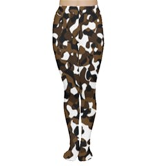 Black Brown And White Camo Streaks Women s Tights