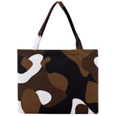 Black Brown And White Abstract 3 Mini Tote Bag