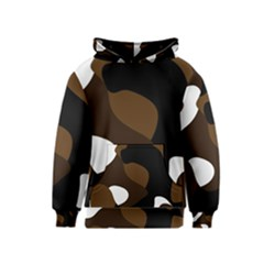 Black Brown And White Abstract 3 Kids  Pullover Hoodie